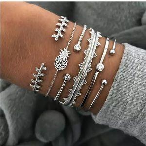 Boho silver bracelets
